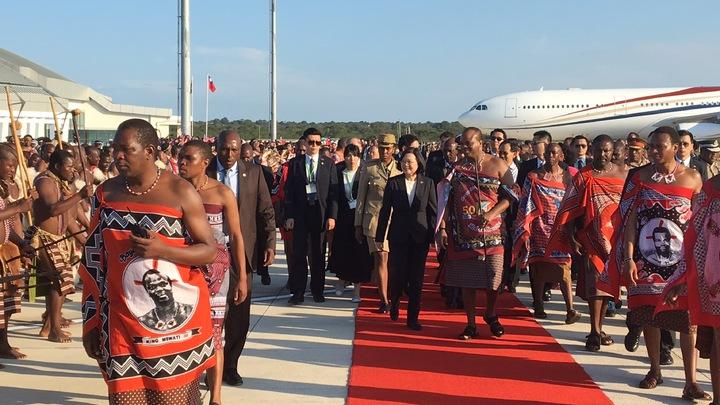 英文總統出訪我非洲友邦史瓦濟蘭王國,在當地時間17日下午3時半抵達史國。記者周佑政/攝影