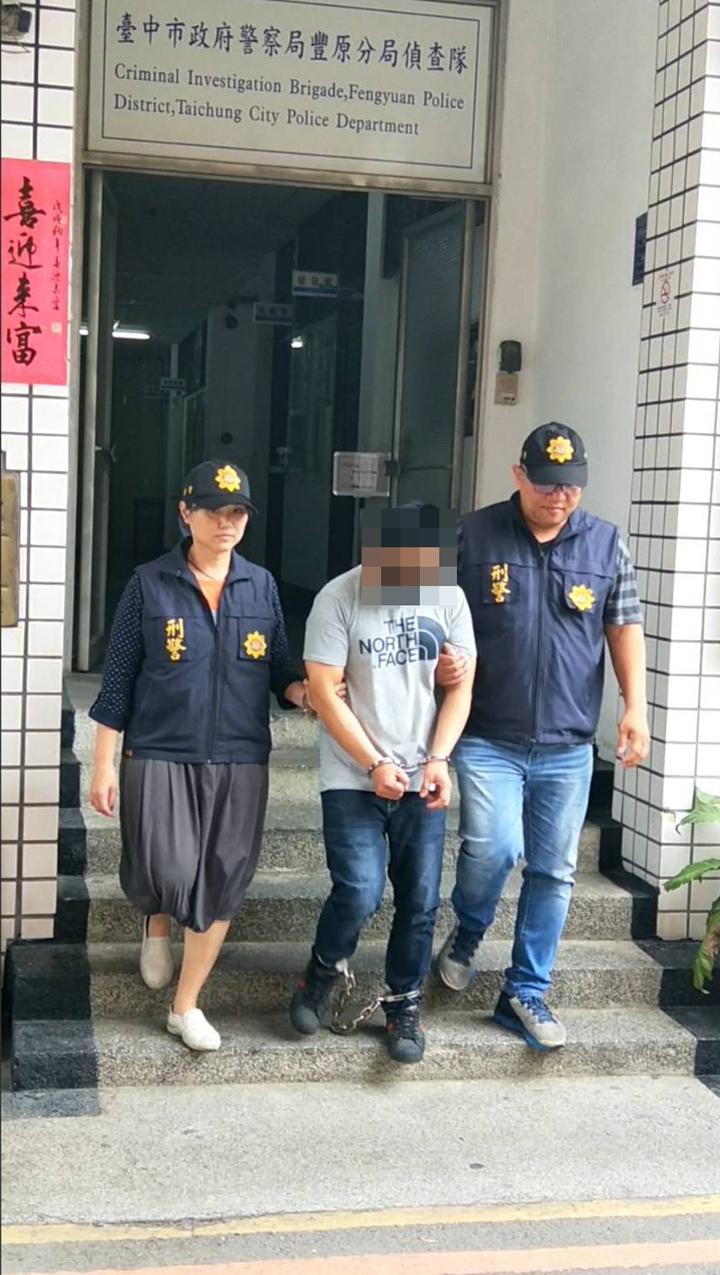 台中市豐原警分局11日逮捕涉嫌在潭子、大雅二地犯下兩起竊案的李姓男子。記者陳宏睿/翻攝