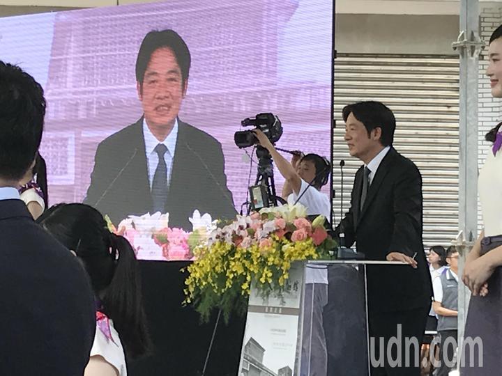 行政院長賴清德上午出席人權博物館揭牌儀式。記者陳珮琦/攝影