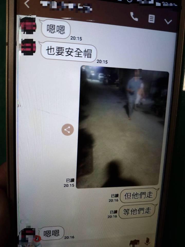 兩男分工偷車竟用line互傳訊息,被警攔查成鐵證。圖/警方提供