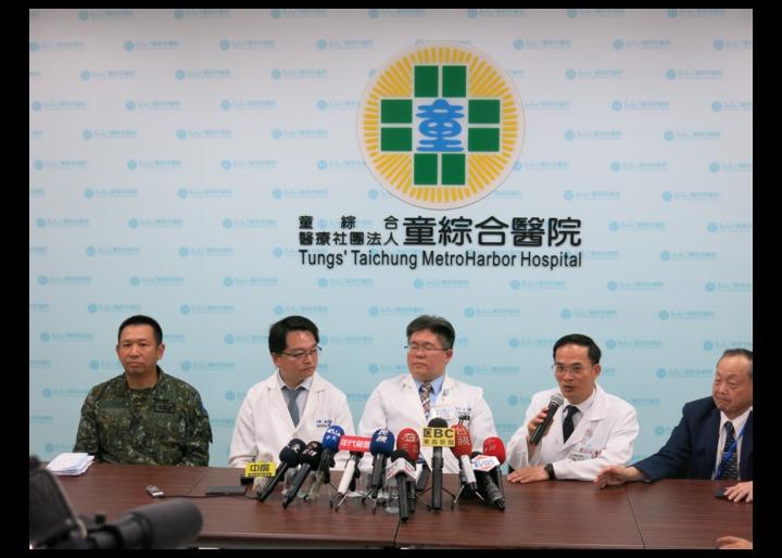童綜合醫院5月18日上午宣布傘兵秦良丰傷勢有進步,面對指令有反應,昏迷指數達11分。記者黑中亮/攝影