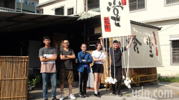 樹德科大五名大學生投入改造後,成為日式風格的食堂。記者王昭月/攝影