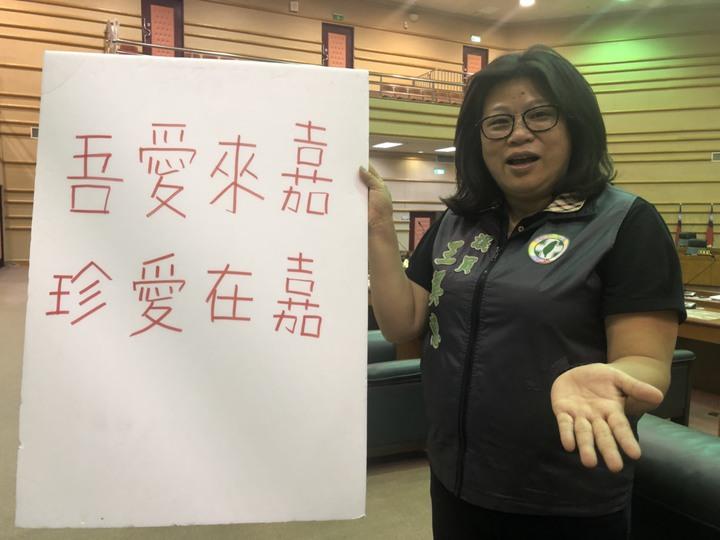 嘉義市議員王美惠說,舉辦大型活動能提高城市知名度及形象,是絕佳的城市行銷良機。記者王慧瑛/攝影