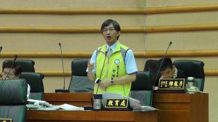 嘉義市教育處長余坤龍說,對造成誤會感到抱歉,市府團隊全力辦好這場活動,已經籌備了2年。記者王慧瑛/攝影