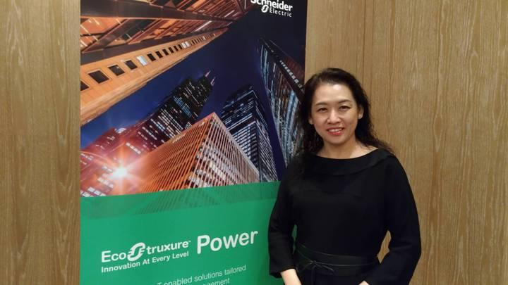 台灣施耐德電機總裁毛莉莉主持Innovation Summit Taipei 2018。記者張義宮/攝影