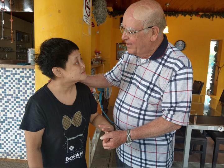 呂若瑟神父創辦聖嘉民啓智中心,31年來照顧無數急重症智障病患。記者張芮瑜/攝影