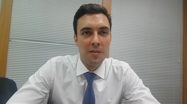 國際信用保險公司、科法斯經濟學家卡洛斯(Carlos Casanova)。記者孫中英/攝影
