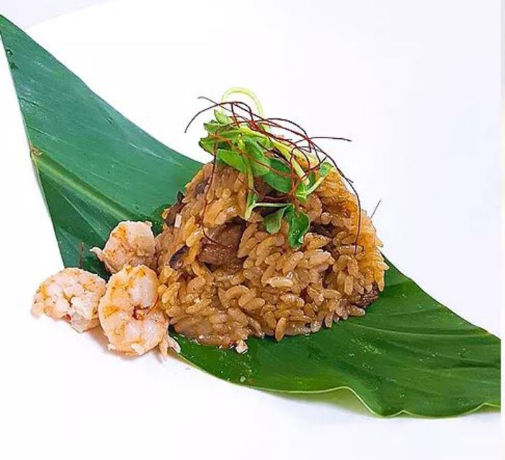 101高地舉辦私廚料理,今天搶先公布主食劍蝦糯米野薑花葉。圖/基隆市政府提供