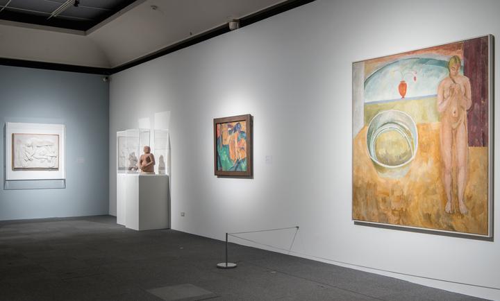 「裸:泰德美術館典藏大展」在高美館開幕,展出以「裸」為主題的藝術品。記者徐如宜/攝影