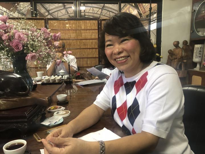 國民黨提名嘉義市長參選人黃敏惠披說,不出惡言、不打口水戰,訴諸理念,是她堅持的嘉義價值。記者王慧瑛/攝影