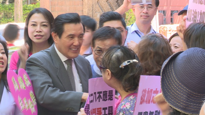 三中案被起訴後,前總統馬英九今天重話抨擊北檢為特定政黨服務。記者王彥鈞/攝影