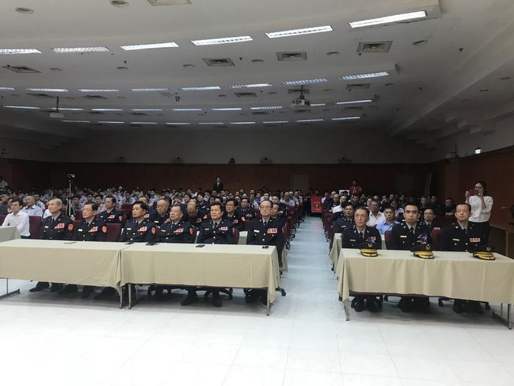 新北市警察局新任分局長、大隊長交接典禮,各單位人員前往觀禮。記者袁志豪/攝影