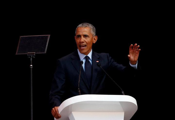 前美國總統歐巴馬17日在南非發表演說,呼籲民眾正視「強人政治」帶來的問題。路透
