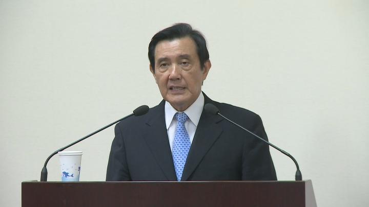 前總統馬英九18日下午到國民黨中常會說明三中案。記者江煜文/攝影