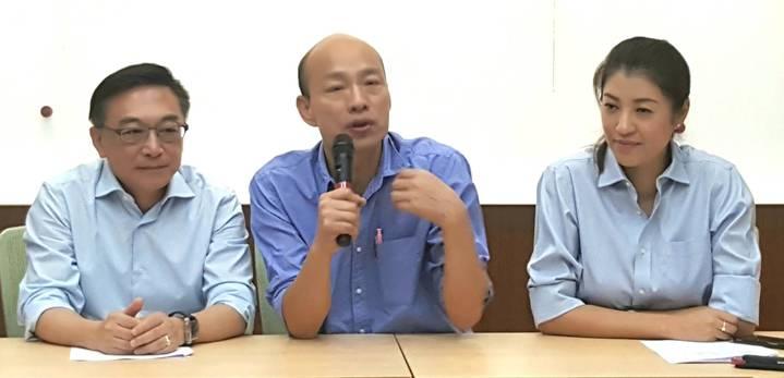 國民黨高雄市長參選人韓國瑜,今天(10日)發布發言人團隊名單。記者陳煜彬/攝影
