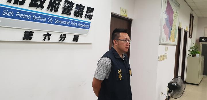 台中市酒店打架,第六分局偵查隊長陳春安說明。記者游振昇/攝影