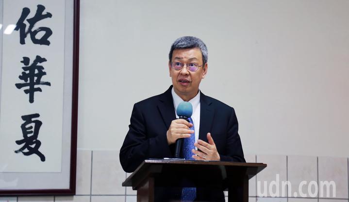 院方帶領副總統陳建仁致詞。記者郭宣彣/攝影