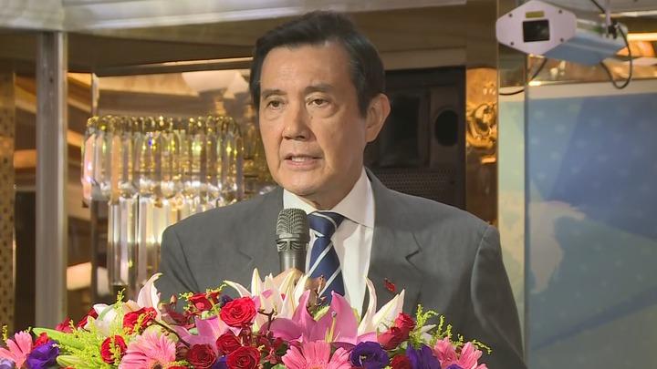 前總統馬英九出席台灣競爭力高峰會致詞,強調兩岸關係與九二共識的關聯。攝影/記者龔盈全