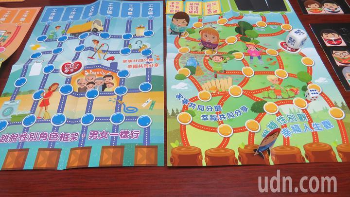 全家可以坐下來討討及玩「『菲摩兒莉』family的幸福寶盒」桌遊,達到家務分工合作。記者范榮達/攝影