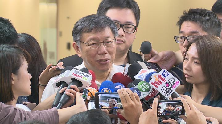 台北市長柯文哲談到台薩斷交,表示外交關係最主要的還是實力原則。攝影/記者王彥鈞