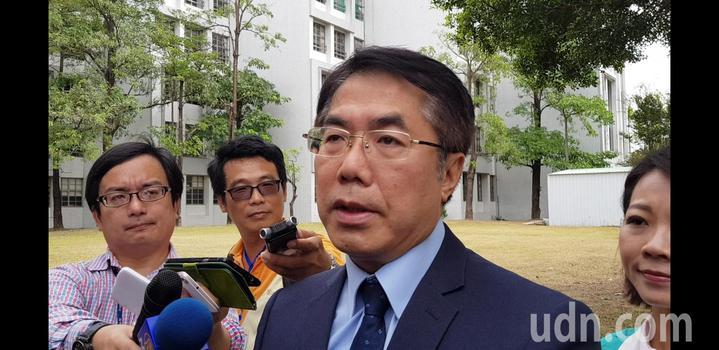 民進黨提名台南市長參選人黃偉哲。記者修瑞瑩/攝影