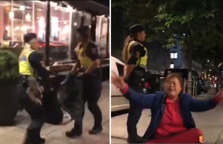 陸官媒《環球時報》報導,瑞典警方暴力對待大陸遊客,遭網友踢爆,根本是這3名陸客行為不當,丟臉丟出國門,批《環球時報》製造假新聞。圖片擷取Kamael_Ko微博