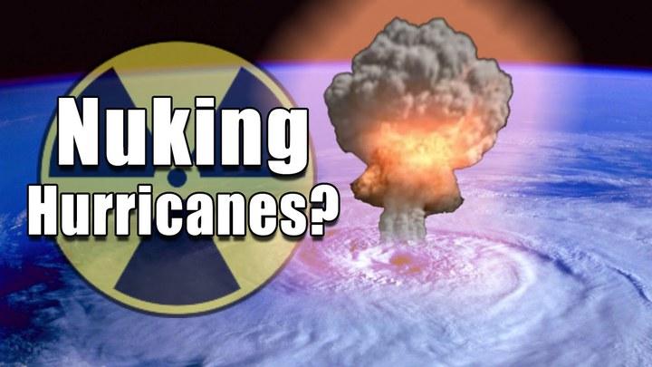1959年一位名叫瑞德(Jack W. Reed) 的美國空軍氣象學家提出,用核彈炸掉颶風的構想,幸好他的計畫從未付諸實行。Youtube/Storm Shield App