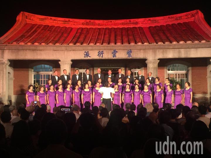黃家古厝音樂會由新韻合唱團表演。記者吳政修/攝影
