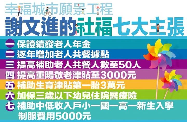 謝文進發布7大社福政見。記者張雅婷/攝影