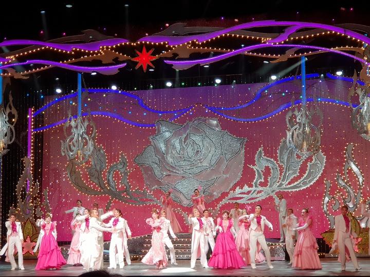 寶塚招牌音樂劇「Killer Rouge/星秀☆煌紅」華麗燦爛,令人目眩神迷。記者陳宛茜/攝影