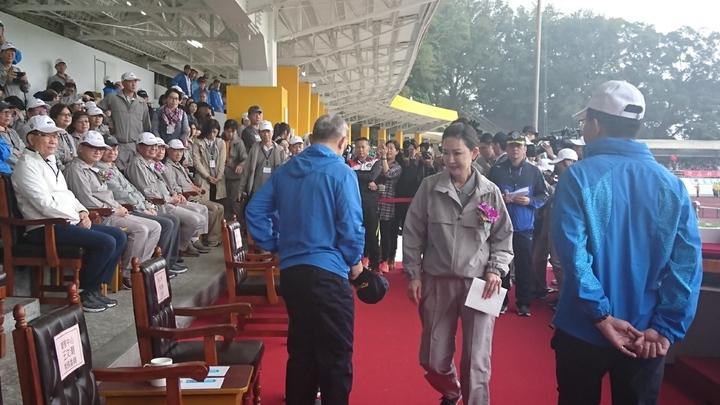 台塑集團運動會管理中心常務委員王瑞瑜也參與活動。 記者/黃淑惠攝影