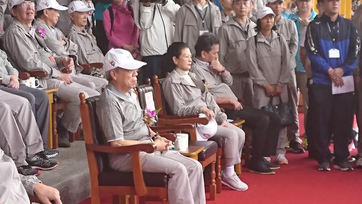 王永慶夫人也親自到場參加運動會。 記者/黃淑惠攝影