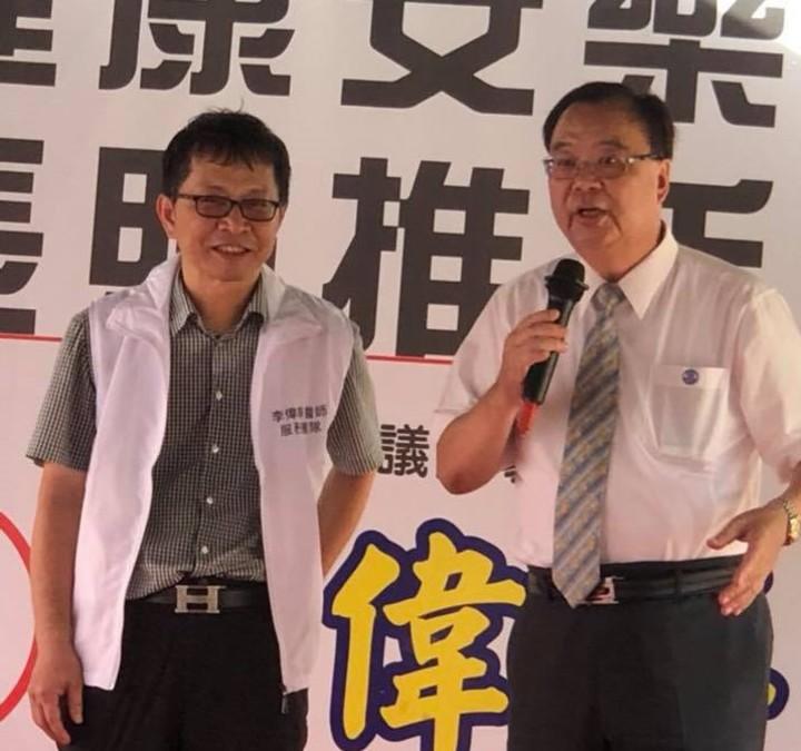 基隆市安樂區市議員候選人李偉華是知名家庭醫師,還是台北市長柯文哲的台大學長,主打長照推手、健康照護政策。圖/李偉華競選總部提供