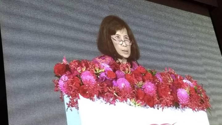 大同創業百周年慶,由大同董事長林郭文艷主持。她表示,大同要企業長青,主要方向包括善盡企業社會責任、強化公司治理;建構公司的永續力、韌性及應變力。 記者張義宮/攝影