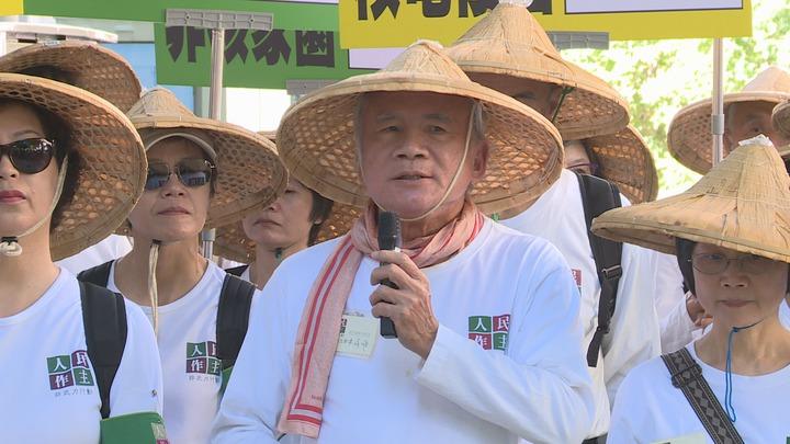 民進黨前主席林義雄21日上午開記者會表示,公投第16案「以核養綠」是企圖讓核電死灰復燃,並造成綠能發展滯延遲緩的公投案,呼籲人民投下不同意票。記者王彥鈞/攝影