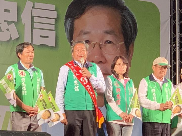 許忠信感性喊話,參選是為回報台南這塊養育他的土地。記者吳淑玲/攝影