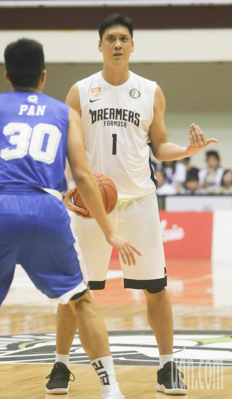 寶島夢想家球員田壘單場得到3分與2籃板。記者黃仲裕/攝影