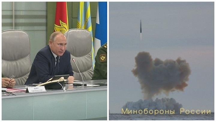 俄羅斯總統普亭26日在莫斯科的國防部控制中心親自遠端監督新型高超音速飛彈系統「先鋒」(Avangard)的最終成功測試,並稱此款「無敵」的武器2019年就會部署。法新