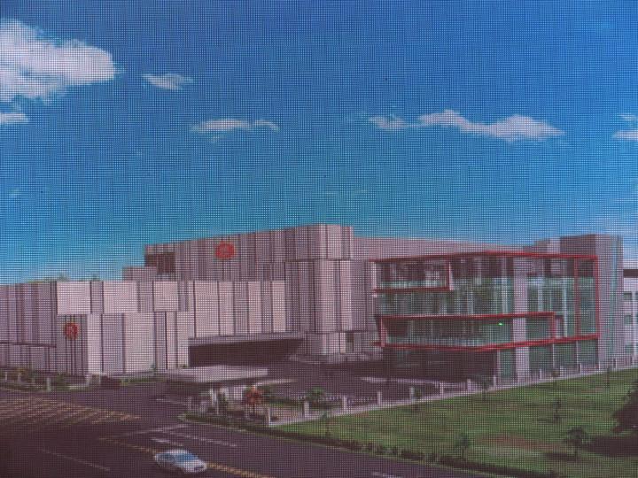 大成集團嘉義縣動土興建新食品廠,占地8800坪,是符合工業4.0運用MES及SAP系統,採用高效益連續式生產設備,生產八大類食品,圖為新廠房完工的電腦模型圖。記者魯永明/攝影