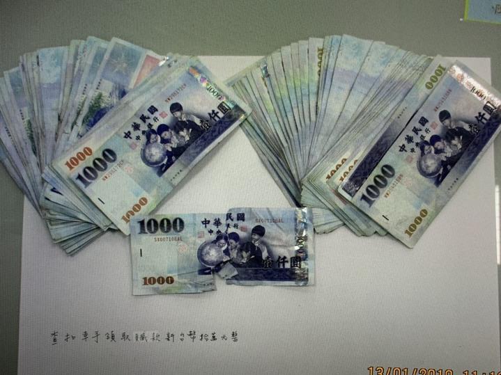 阮男盜領10萬元現金。圖/警方提供