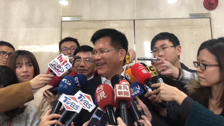 交通部長林佳龍上任首日。記者侯俐安/攝影