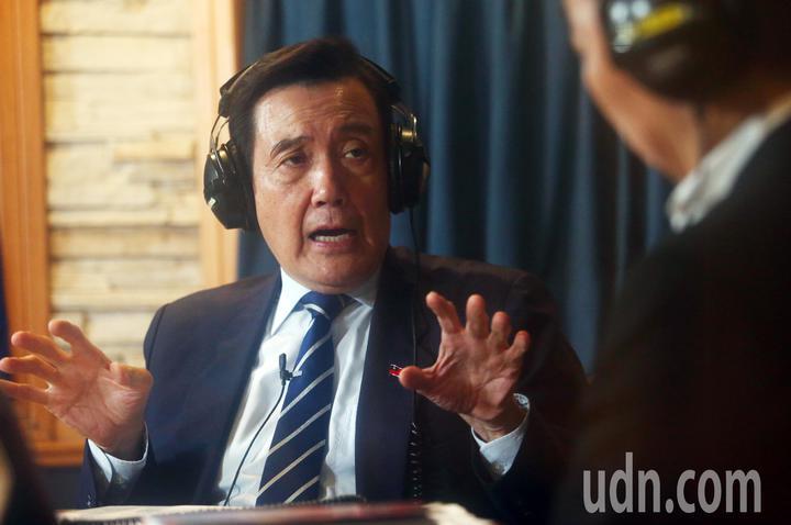 前總統馬英九上午接受飛碟電台主持人唐湘龍專訪,針對監察院彈劾管中閔一事,馬英九對此表示「實在讓人看不下去」。記者杜建重/攝影