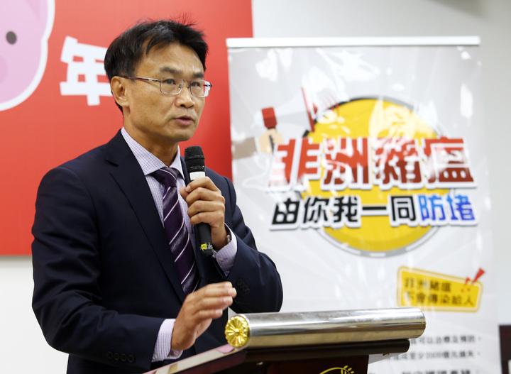 農委會主委陳吉仲表示,目前國內並沒有非洲豬瘟疫情,但網路不實的消息,已經影響了消費者購買意願。記者杜建重/攝影