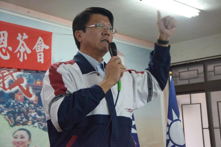 國民黨徵召台南市議員謝龍介投入第二選區立委補選。記者吳淑玲/攝影