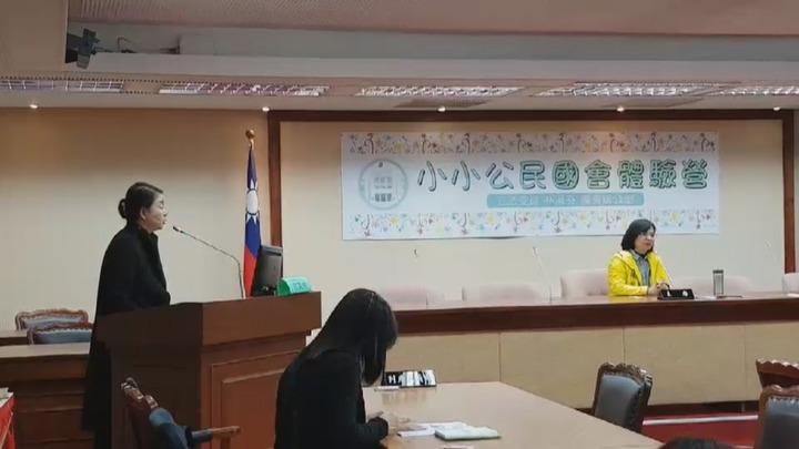 民進黨立委林淑芬舉辦為期兩天的「小小公民國會體驗營」。記者林麗玉/攝影