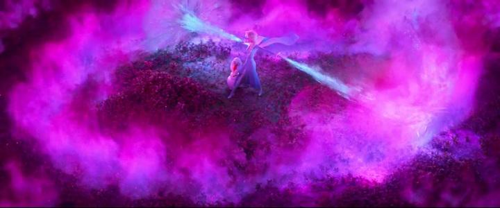 艾莎與雪寶面臨強敵。圖/翻攝自YouTube