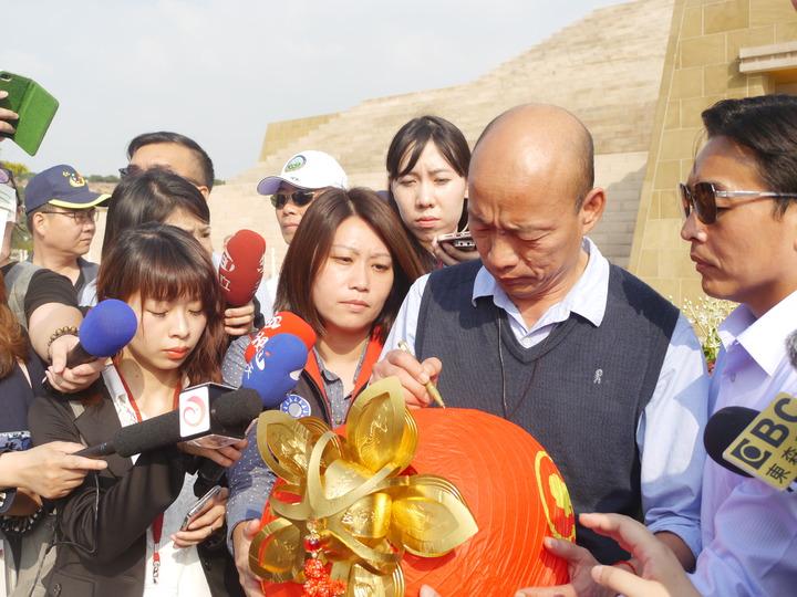 高雄市長韓國瑜今天下午到佛陀紀念館參加「第二屆七彩雲南相約台灣」文化交流活動」。記者徐白櫻/攝影