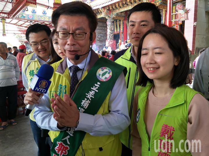 郭國文說要以年輕暖流不畏所謂的韓流。記者謝進盛/攝影