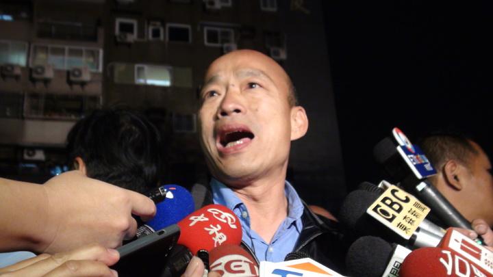 高雄市長韓國瑜南北奔波坦承體力消耗比較大。記者謝梅芬/攝影