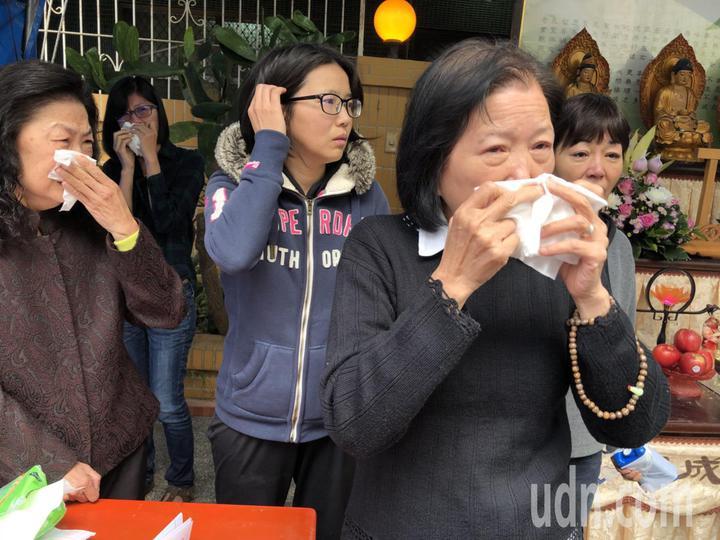 廖天隆妻子紀素珠是虔誠佛教徒,她說,事情發生只能面對,會持續念佛讓丈夫放下,後事一切從簡。記者王慧瑛/攝影